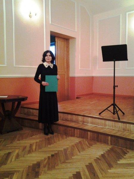 Koncerta vadītāja - Māra Šlakorcina