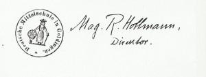 zimogs un holmas paraksts