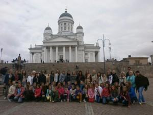 Pie Sv. Nikolaja katedrāles Helsinkos. At St Nicolaus Cathedral in helsinki.