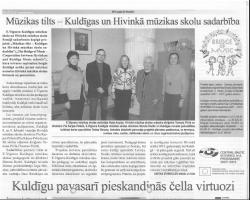 Mūzikas tilts - Kuldīga un Hivinkā mūzikas skolau sadarbība