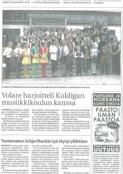 Volare harjoittetli Kuldigan musiikkikoulun kanssa