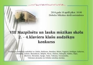 VIII Mazpilsētu un lauku MS 2 .-4. klavieru klašu audzēkņu konkurss
